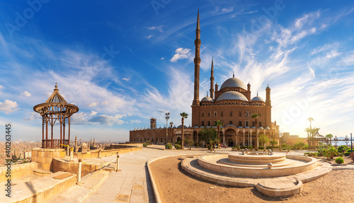 Fotografering The Great Mosque of Muhammad Ali Pasha or Alabaster Mosque in the Cairo Citadel,