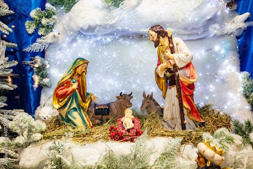 The nativity scene in Lviv