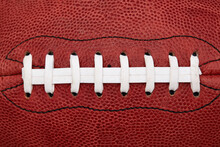 Close Up Of Laces On American Football Ball