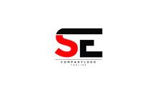 SE Abstract Initial Monogram Letter Alphabet Logo Design