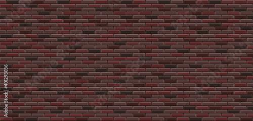 Vector texture of brick wall Fototapeta
