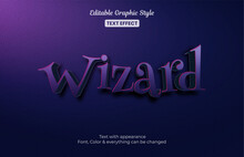 Magic Wizard Editable Text Effect