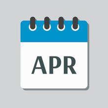 Vector Icon Day Calendar, Spring Month April