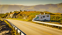 Camper Car On Roadside