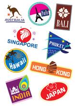 Set Of Travel Icon Sticker