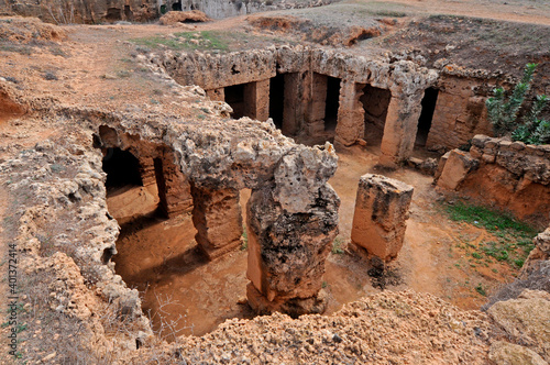 The necropois the Tombs of the Kings in Paphos Cyprus