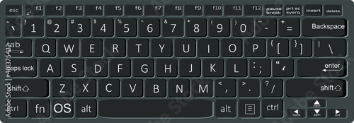Photographie Computer or Laptop Keyboard Vector