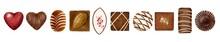 いろいろなチョコレートの水彩風イラスト