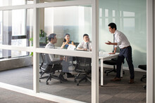 Confident Business People Having A Meeting