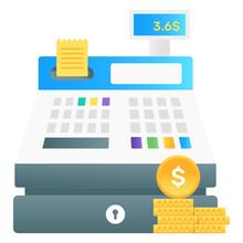 Pos Machine, Cash Register Gradient Vector Design
