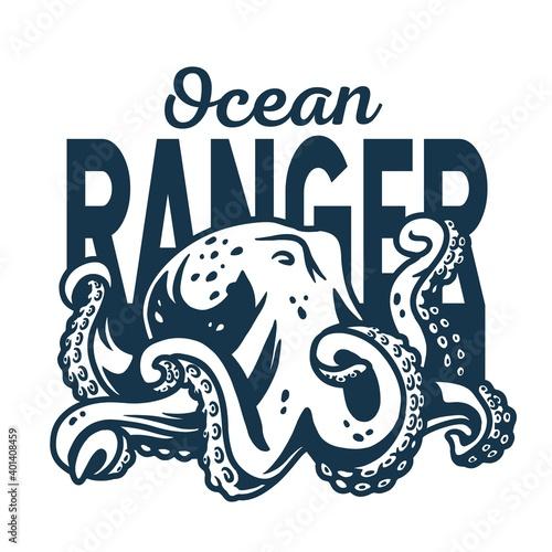 Foto Marine octopus monster or kraken