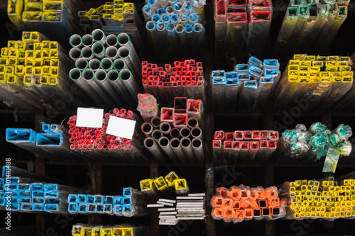 Fototapeta metal pipes and background photo closeup objects obraz