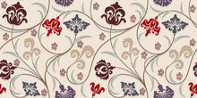 Seamless Flower Design Wall Tiles Textiles Graphics Design Highlighter Multi Colour.