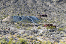 Abandoned Buildings At Leadfield Ghost Town, Death Valley National Park, California, USA