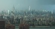 Manhattan Skyline With Stormy Clouds NYC