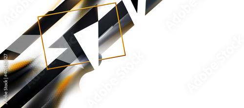 Fotografie, Obraz White, black abstract background, hex texture