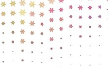 Light Pink, Yellow Vector Pattern With Christmas Snowflakes, Stars.