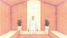 教会 結婚式 バージンロード歩く イラスト27