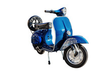 Vintage Scooter With White Background