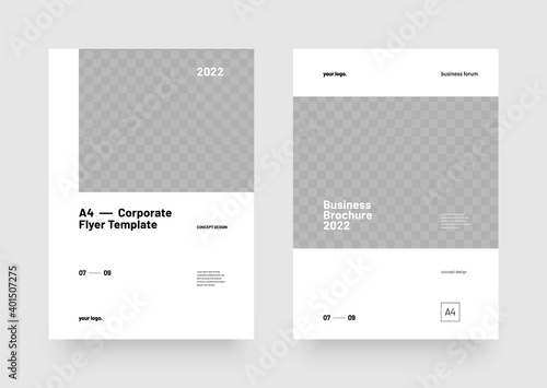 Fototapeta Corporate vector layout template with clean design for seminars, conference, poster companies or any business related. obraz na płótnie
