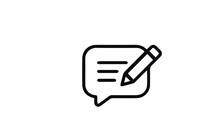 Feedback And Testimonials  Icon Vector Design