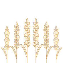 Wheat Pattern Wallpaper. Rice Sign. Rice Pattern Wallpaper.