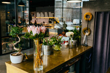 Flower Shop Loft Interior And Florist Workplace.