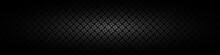 Dark Black Geometric Grid Background. Modern Dark Abstract Vector Texture
