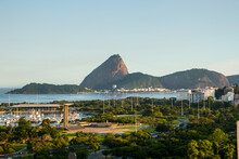 View Of Flemish Landfill , Sugarloaf And Guanabara Bay In Rio De Janeiro.