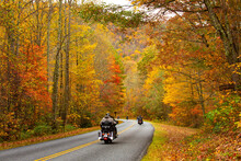 Pretty Day For A Motorcycle Ride On The Blue Ridge Parkway In FAll