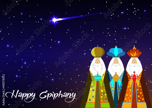 Canvas Print Three wise men Christmas