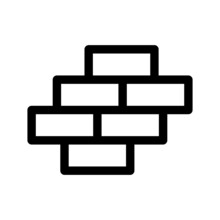 Brick Wall Icon Isolated Sign Symbol Vector Illustration - High-quality Black Style Vector Icons