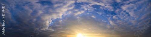 Fototapety, obrazy: Panorama sky clouds in the evening