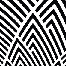 Seamless Pattern With Bulge Oblique Black Bands
