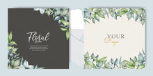 Watercolor Wedding Invitation Card Set Template