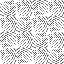 Seamless Pattern With Bulge Oblique Black And Gray  Bands