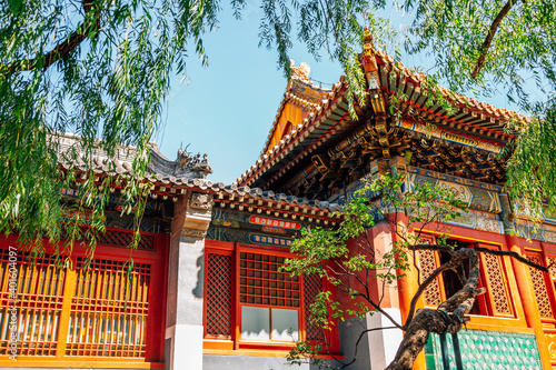 Fotografija Lama Temple, Chinese traditional architecture in Beijing, China