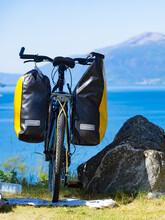 Bike With Saddlebag On Nature, Norway
