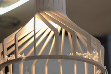 Interior Ceiling Pendant Light Close Up.  Soft Selective Focus. Blur Abstract