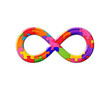 canvas print picture - Limitless infinity symbol Jigsaw Autism Puzzle color illustration