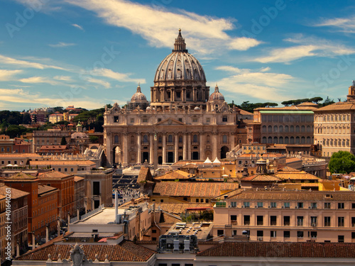 Canvas View of St. Peter's Basilica in the Vatican