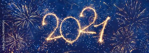 Obraz Happy New Year 2021 - fototapety do salonu