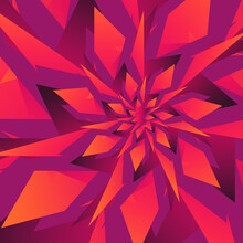 Colorful Gradient Distorted Shapes Abstract Vector Art.