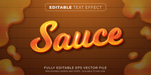 Editable Text Effect In Food Sauce Style
