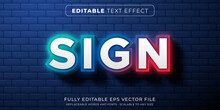Editable Text Effect In Gradient Neon Sign Style