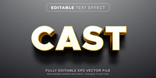 Editable Text Effect In Heavy Shadow Cast Style