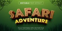 Editable Text Effect In Safari Game Style