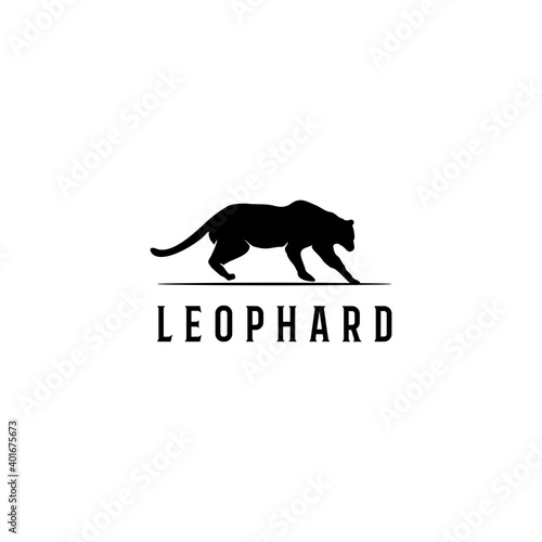 Foto Illustration vector graphic of leophard