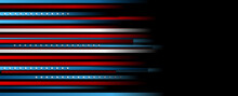 USA Colors, Stars And Stripes Abstract Dark Design. Independence Day Modern Vector Background. Corporate Concept American Flag