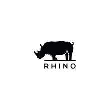 Rhino Logo Design Vector Template